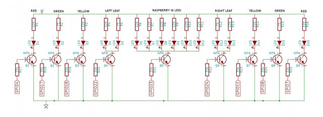 Stripboard Enclosure LED Schematics