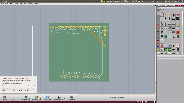 Fritzing PCB View (Click to Enlarge)