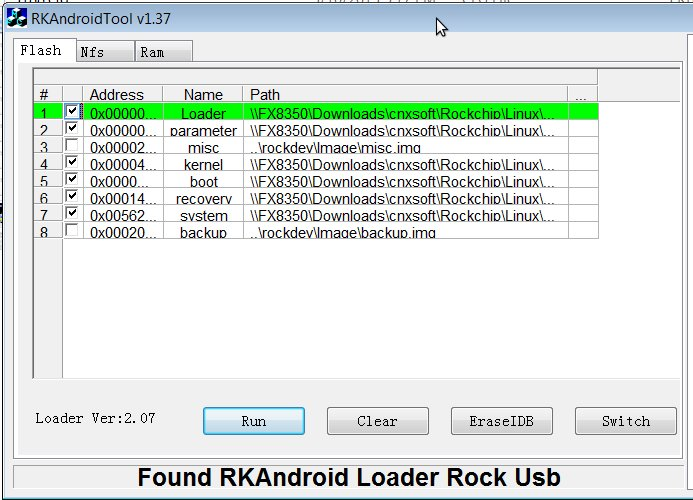 How to Flash Rockchip RK3066 / RK3188 Firmware in Linux