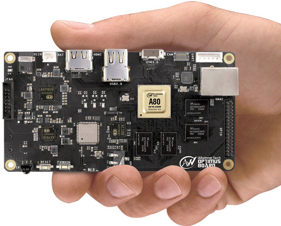 AllWinner A80 Development Board (Click to Enlarge a bit)