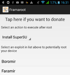 Framaroot is an Android App to Root Mediatek, Qualcomm