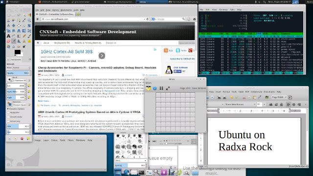 Xubuntu in Radxa Rock (Click for Original Size)