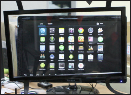 "23"" Monitor and Overlay Touchscreen"