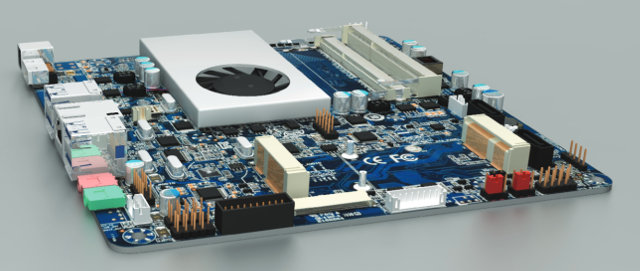 Sorry no Picture of the Actual Motherboard yet, Just some 3D Rendering (Not sure there will be a Fan or not).
