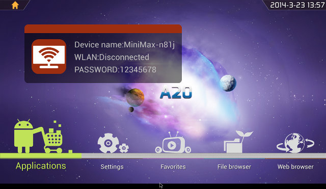 Android 4.2 Home Screen on IBOX (Click for Original Size)
