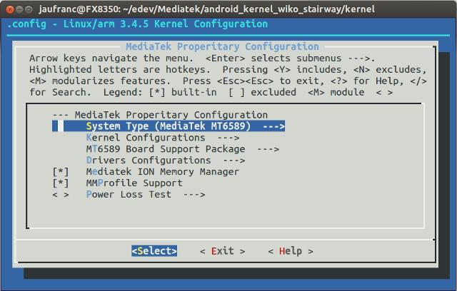 Mediatek_Linux_Kernel_Menuconfig