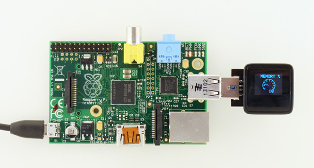 Microview Connected to Raspberry Pi (CPU / Memory usage)