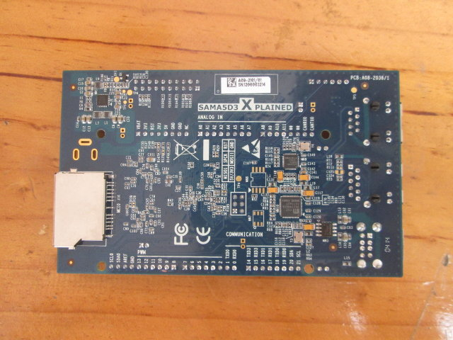 Bottom of Atmel SAMA5D3 Xplained (Click to Enlarge)