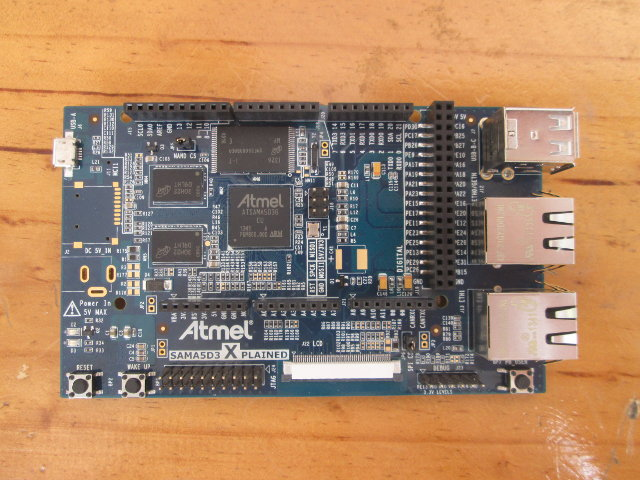 Top of Atmel SAMA5D3 Xplained Board (Click to Enlarge)