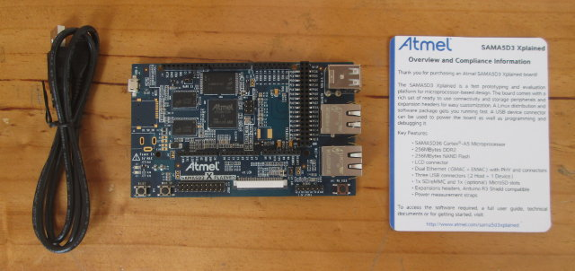 Atmel SAMA5D3 Xplained Package Content (Click to Enlarge)