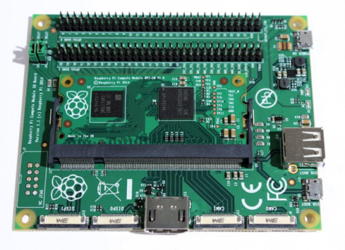 Raspberry Pi IO Board and Compute Module