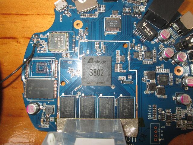 Amlogic S802 on Tronsmart Vega S89 Board (Click to Enlarge)