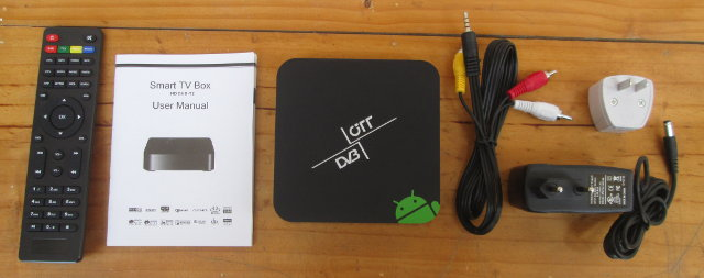 DVB-T2 Android STB and Accessories (Click to Enlarge)