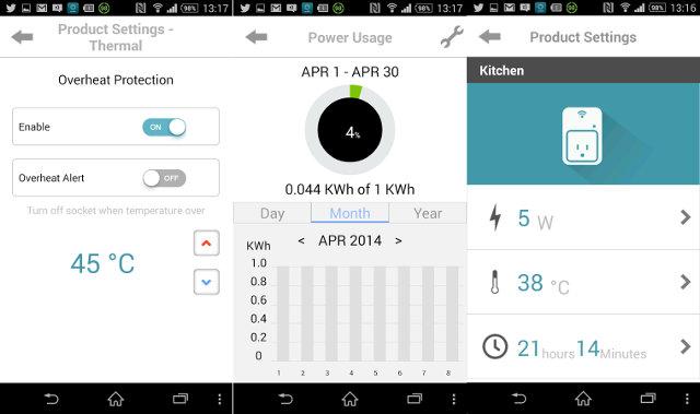 mydlink smart plug screenshots (Click to Enlarge)