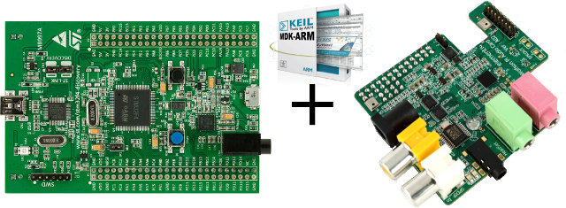 STMicro STM32F4-Discovery Board, Keil ARM-MDK and Wolson Audio Card