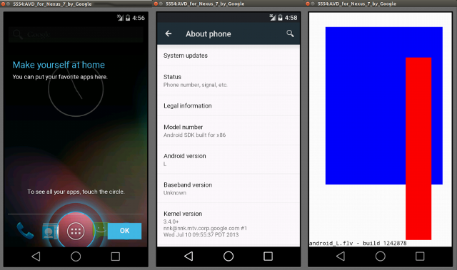 Android L Screenshots (Click to Enlarge)