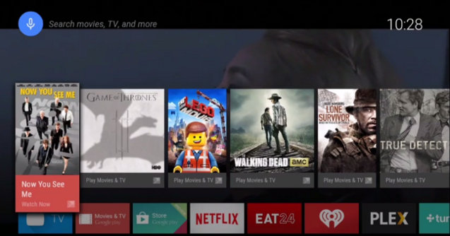 Android TV User's Interface