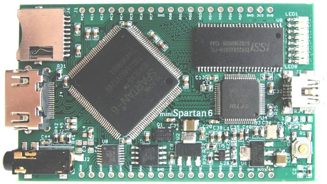 $69 miniSpartan6+ Board with Xilinx Spartan 6 FPGA Features an HDMI
