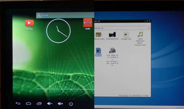 VolksPC Runs Android and Debian LXDE.