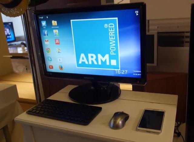 Smartphone as Desktop PC on Wireless Charging Desk