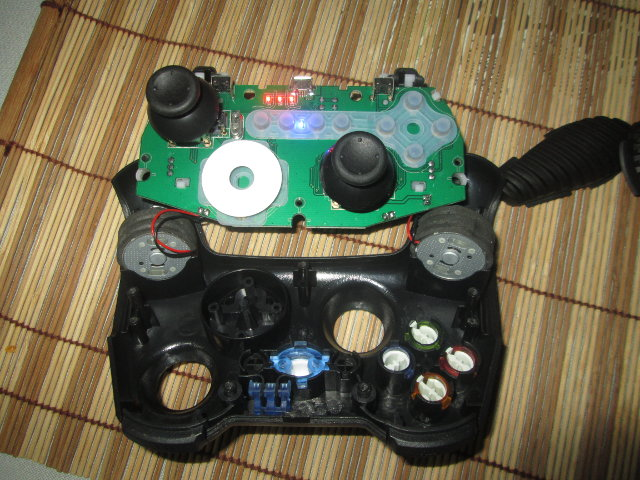 LEDs, Button and Plastic Bits (Click to Enlarge)
