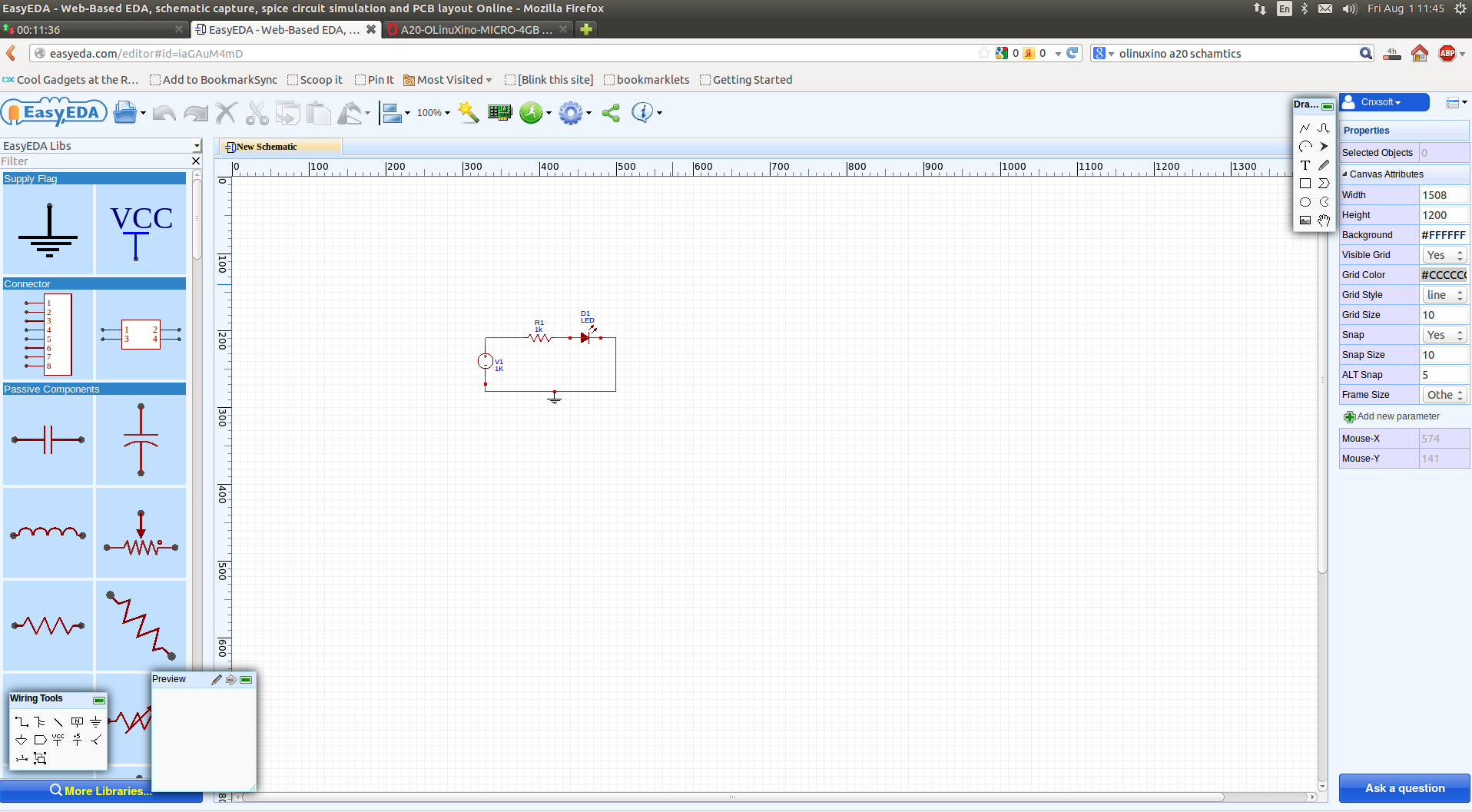 Easyeda Is A Web Based Schematics Capture Simulation And Pcb Ubuntu Circuit Simulator Click To Enlarge