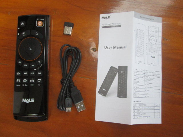 Mele F10 Deluxe and Accessories (Click to Enlarge)