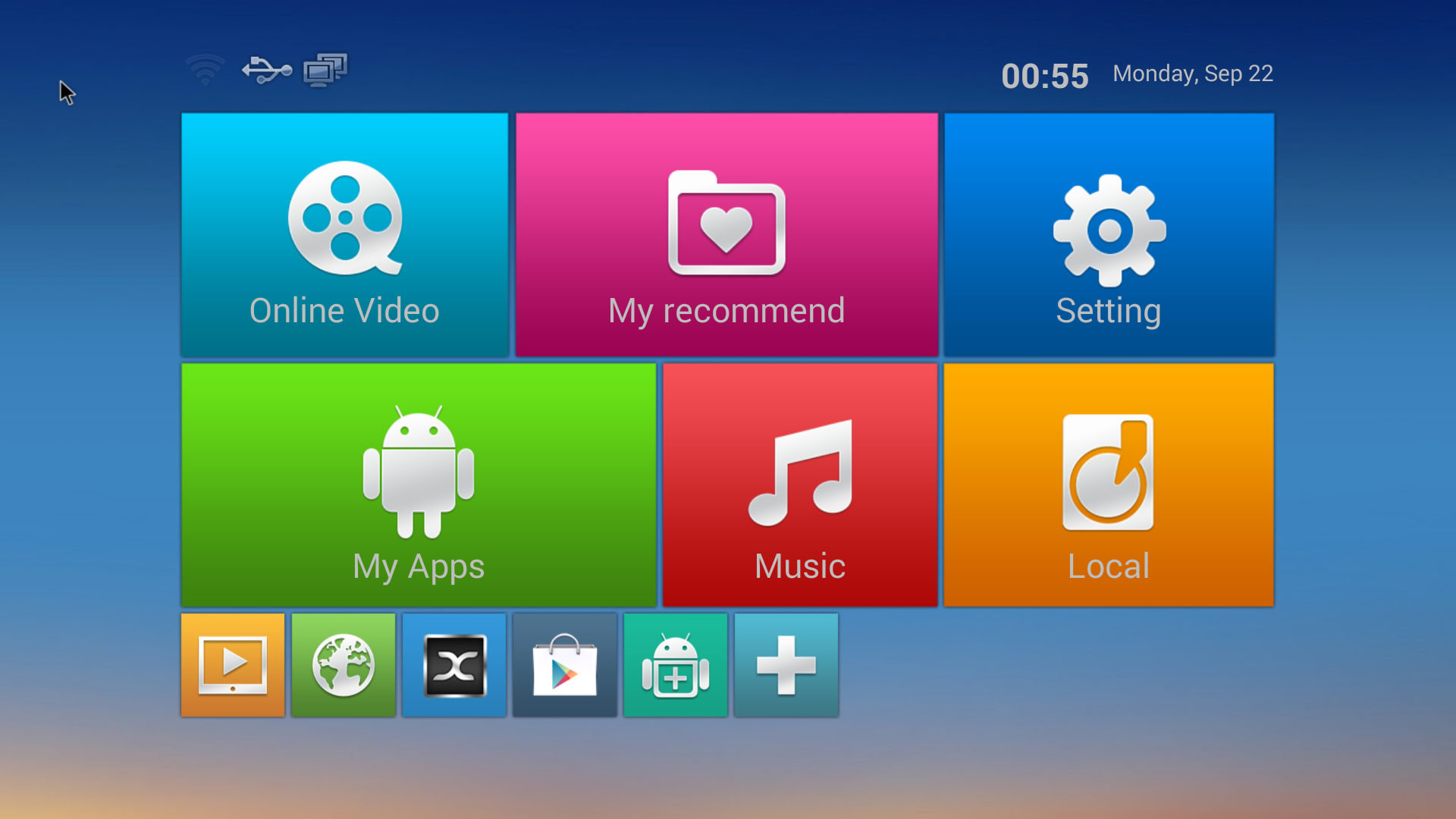 Review of em6q mxq android quad core media player for Wallpaper home launcher