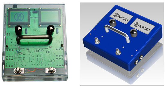 MOD Duo Prototype in Acrylic Enclosure (Left) - Enclosure for Final Product (Right)