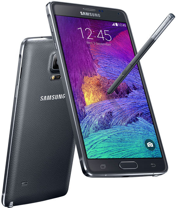 Samsung Edge Note (Front), and Samsung Note 4 (Back)