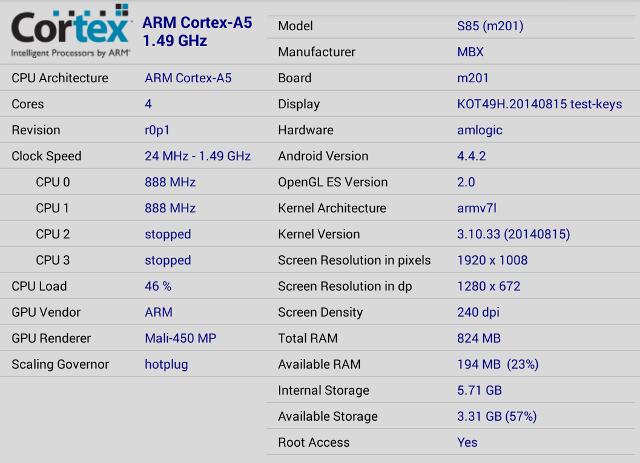Amlogic_S805_CPU-Z_MXQ_S85