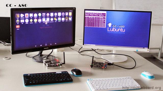 Lubuntu running on CC-A80 Board