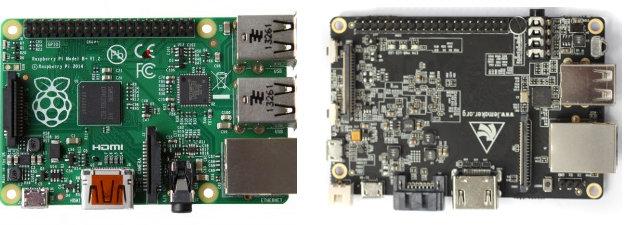 Raspberry Pi Model B+ vs Banana PRO
