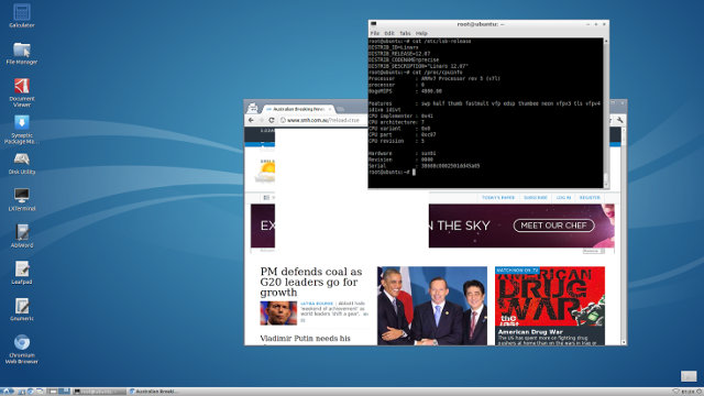 Lubuntu Screenshot in A80 OptimusBoard
