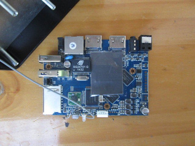 M-195 Board with Thermal Pad and Tape (Click to Enlarge)