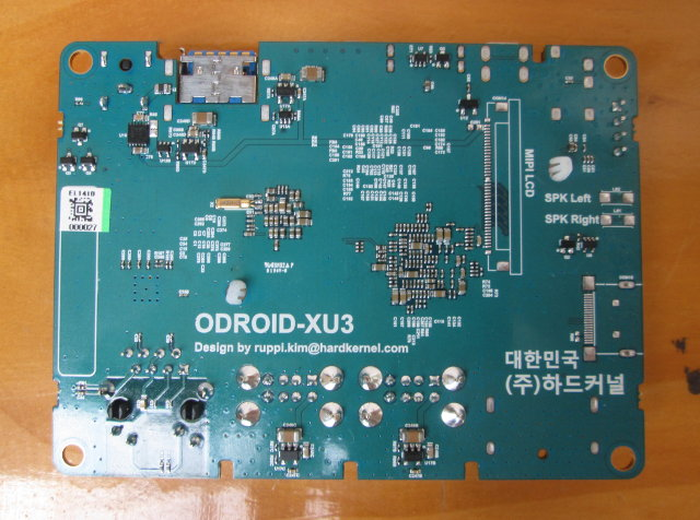 Bottom of ODROID-XU3 Lite Board