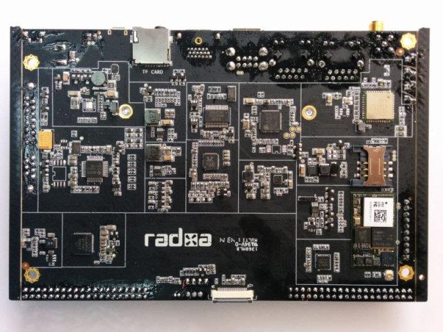 Bottom of Radxa Rock 2 Baseboard (Click to Enlarge)