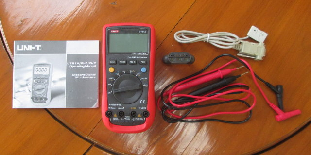 UNI-T UT61E Digital Multitmeter with Cables, Adapter, and User's Manual (Click to Enlarge)