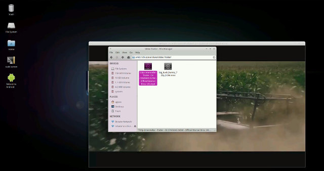 720p Video Playback in Ubuntu 14.10 (Click to Enlarge)