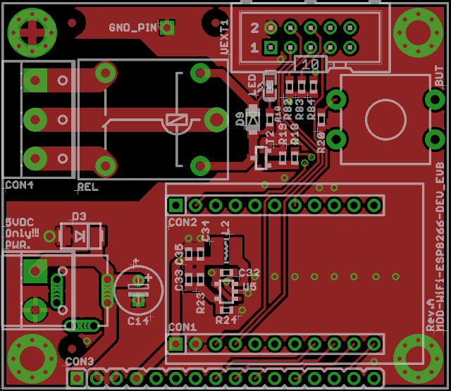 Olimex ESP8266 EVB PCB Layout