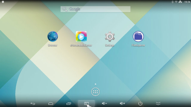 Android Home Screen on T034 (Click for Original Size)
