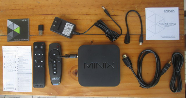 MINIX NEO X8-H Plus, MINIX NEO M1 Air Mouse, and other Accessories (Click to Enlarge)