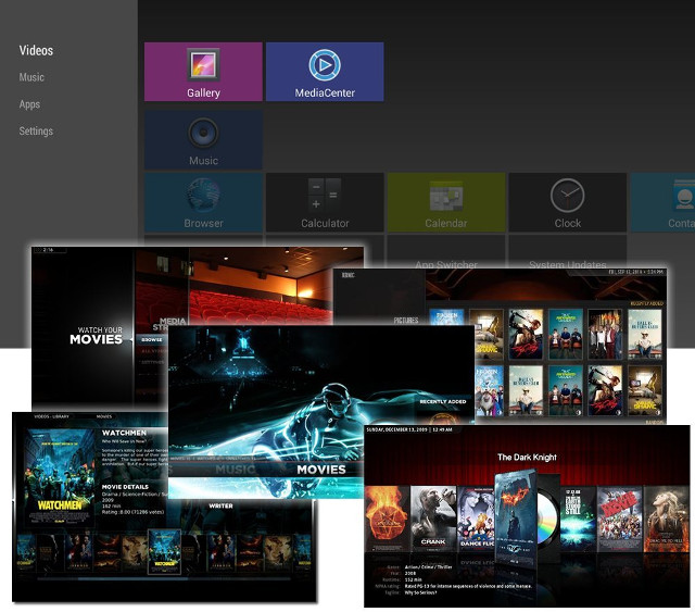 Gbox Q launcher and XBMC Screenshots