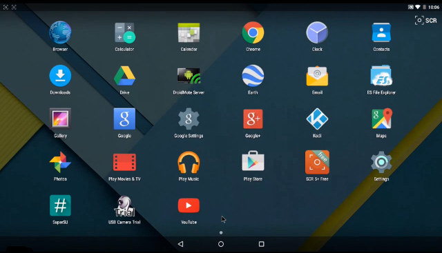 the demo below shows android 5 0 on nexus player running apps such as