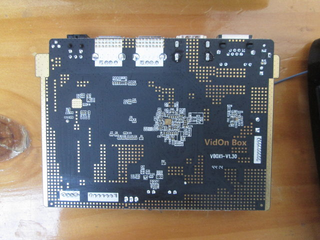 Bottom of Vidon Box Board (Click to Enlarge)