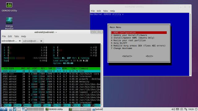 Lubuntu Screenshot in ODROID-XU3 Lite (Click for Original Size)