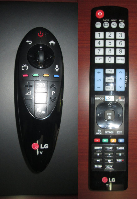 Magic Remote vs IR Remote (Click to Enlarge)