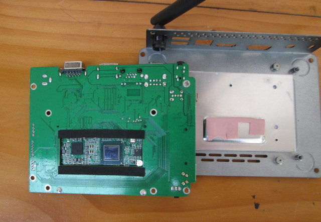"""Bottom and Board and """"Heatsink"""" (Click to Enlarge)"""