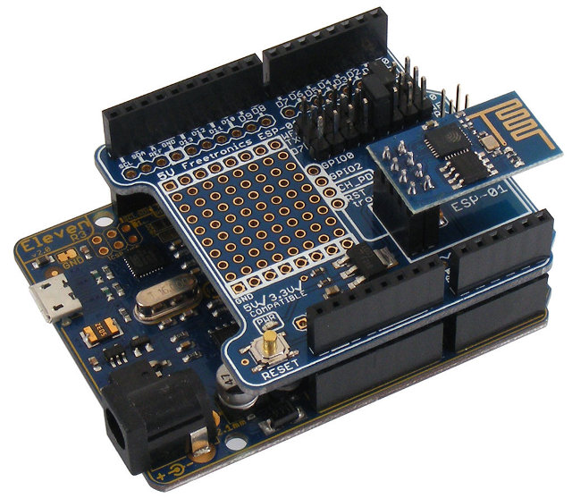 Freetronics introduces an arduino shield for esp