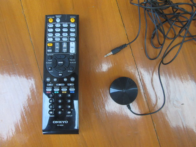 TX-NR636 Remote Control and Speaker Setup Microphone (Click to Enlarge)
